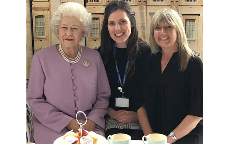 Trade team meet the queen